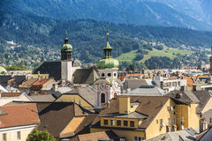 General view of Innsbruck in western Austria. Stock Photo