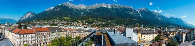 General view of Innsbruck in western Austria. Stock Image