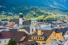 General view of Innsbruck in western Austria. Stock Image