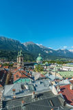 General view of Innsbruck in western Austria. Royalty Free Stock Image