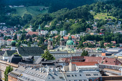 General view of Innsbruck in western Austria. Royalty Free Stock Photography