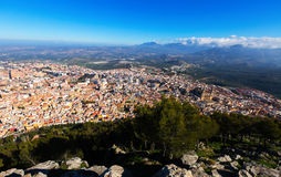 General view of Jaen from castle Stock Images