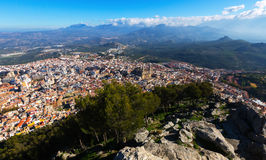 General view of Jaen from mount Royalty Free Stock Photos