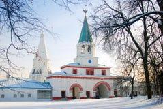 General view of Kolomenskoye park in winter. Stock Photo
