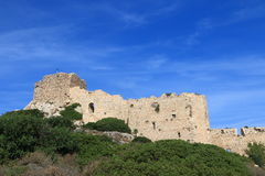 General view of the Kritinia Castle Stock Photo