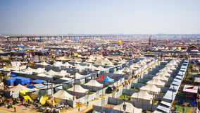 General View of Kumbh Mela Festival in Allahabad, India Stock Photos