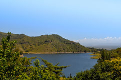General view of the lake Embalse Dique los Molinos in Cordoba. Argentina royalty free stock photography