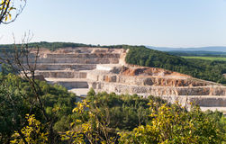 General view of limestone stone pit from Koneprusy caves, Czech Republic Stock Images