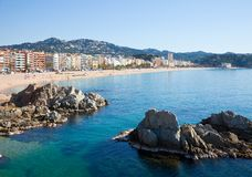 General view of  Lloret de Mar Stock Photos