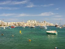 Sliema, malta. General view looking towards sliema in malta Royalty Free Stock Photos