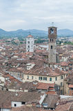 General View of Lucca in Tuscany, Italy Royalty Free Stock Photography