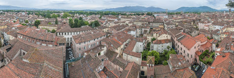 General View of Lucca in Tuscany, Italy Stock Photos