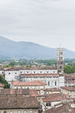 General View of Lucca in Tuscany, Italy Stock Images