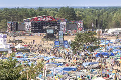 General view of main main stage and tents Stock Image