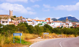 General view of Matet. General view of village at Valencian Community. Matet stock photography