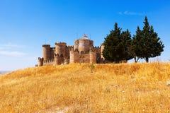 General view of Medieval Castle in Belmonte. Cuenca, Spain Stock Photos