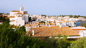 General view of  mediterranean town. Cadaques Royalty Free Stock Images