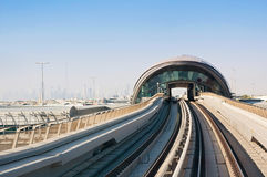 General view of the metro Dubai Stock Photos