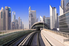 General view of the metro Dubai Royalty Free Stock Photo