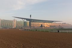 Meydan Racecourse in Dubai, United Arab Emirates. General view of Meydan Racecourse in Dubai, United Arab Emirates. The Dubai World Cup is run at Meydan on the Stock Image