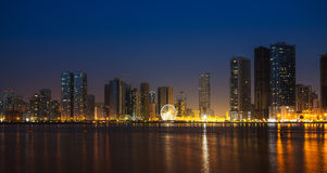 General view of modern buildings in Sharjah Stock Photography