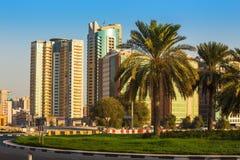 General view of modern buildings in Sharjah Royalty Free Stock Photo