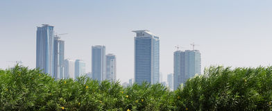 General view of the modern Dubai Stock Image