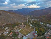 General view of the monastery complex Goshavank, Armenia. stock photo