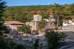 General view of the monastery  Surb Khach complex, Crimea. Royalty Free Stock Photos