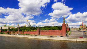 General view of Moscow Kremlin, Russia Royalty Free Stock Image