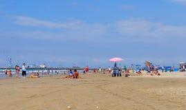 General view of Murcielago beach, Manta, Ecuador Royalty Free Stock Photo