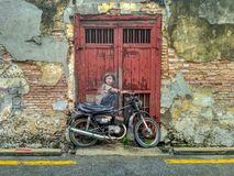 Free General View Of A Mural `Boy On A Bike` Stock Images - 147568884