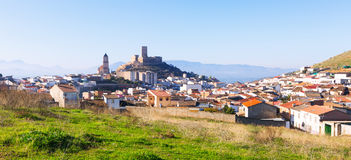 General view of  old andalusian town.  Alcaudete Royalty Free Stock Photography