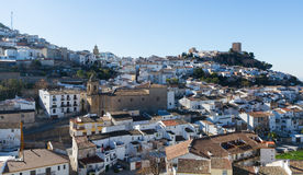 General view of old andalusian town. Martos. Province of Jaen, Spain Royalty Free Stock Images
