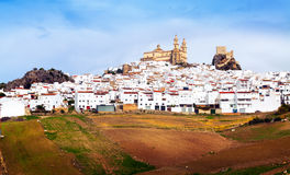 General view of  old andalusian town.  Olvera Royalty Free Stock Photography