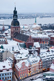 The general view of old city of Riga, Latvia Stock Photo