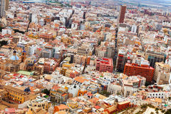 General view of old european city. Alicante Royalty Free Stock Photography