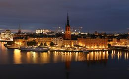 General view of Old Town Gamla Stan in Stockholm, Sweden Royalty Free Stock Photos