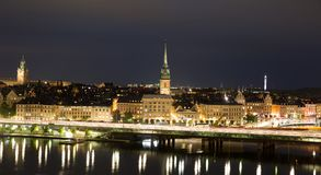 General view of Old Town Gamla Stan in Stockholm, Sweden Stock Image
