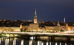 General view of Old Town Gamla Stan in Stockholm, Sweden Royalty Free Stock Photo