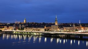 General view of Old Town Gamla Stan in Stockholm, Sweden Royalty Free Stock Photography