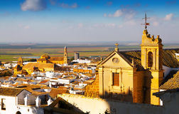 General view of Osuna with church Stock Photography