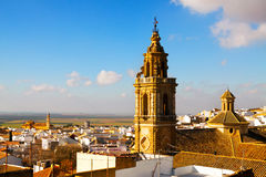 General view of Osuna with church Royalty Free Stock Photos