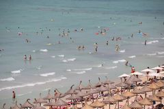 El Arenal beach in Mallorca Stock Image