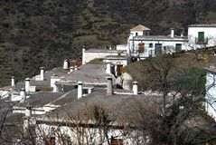 White village, Bubion, Andalusia, Spain. Royalty Free Stock Photo