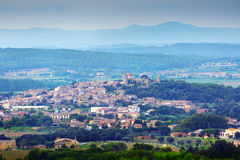 General view of Pals area in Catalonia Royalty Free Stock Photos