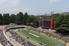 Parade Ring at Tokyo Racecourse, Japan. General view of the Parade Ring at Tokyo Racecourse, Fuchu, Tokyo, Japan Stock Photo