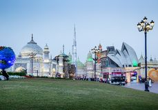 General view of the park entertainment center Global Village in Stock Photo