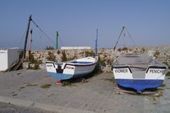 General View of Peniche Portugal Stock Photos