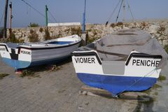 General View of Peniche Portugal Royalty Free Stock Images